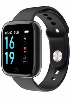Relógio Eletrônico Smartwatch CF T80 - IP68 - Android e iOS Preto Silicone
