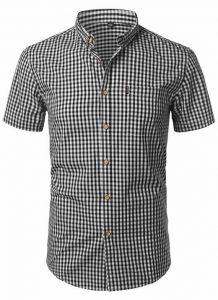 Camisa Xadrez Masculina Preta Slim Fit