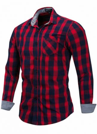 Camisa Xadrez Vermelha Masculino