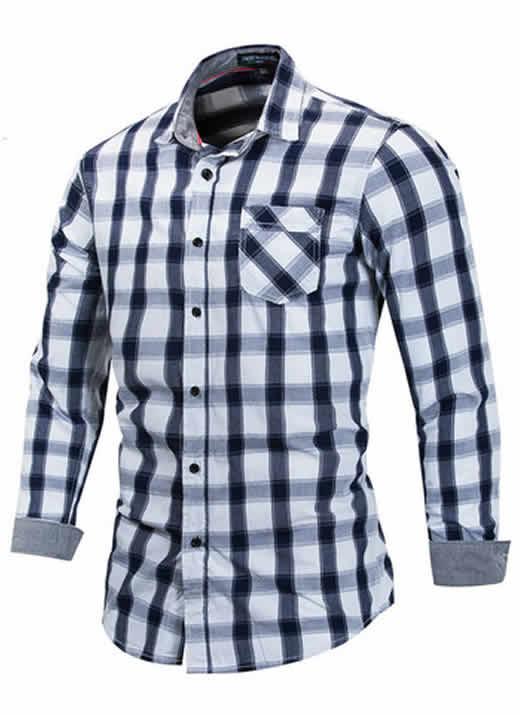 Camisa Xadrez Preta Masculino