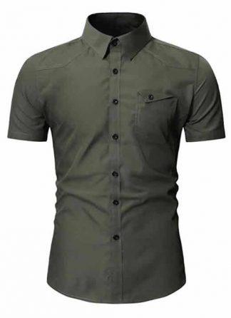 Camisa Masculina Slim Fit Importada Verde