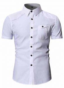 Camisa Masculina Slim Fit Importada Branca