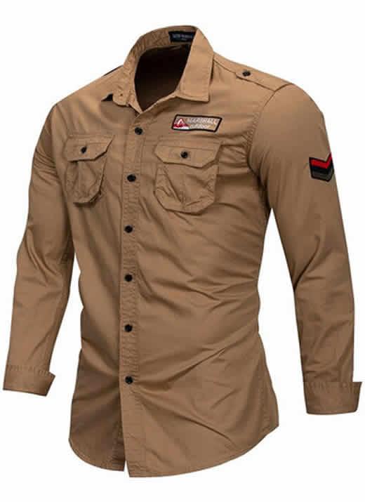 Camisa Estilo Militar Slim Fit Masculina Berge