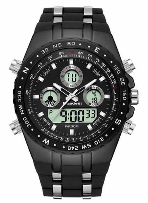 Readeel Esporte Marca de Topo de Quartzo Relógio de Pulso Homens Militar Relógios À Prova D' Água LED Digital