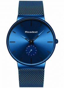 Relógio Marca ultra fino Readeel Luxo Masculino Azul