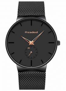 Relógio Marca ultra fino Readeel Luxo Masculino Preto Bonse