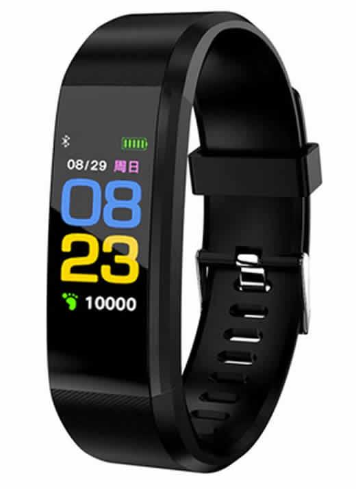 Leecnuo 115 Além de Bluetooth Relógio Inteligente Monitor de Freqüência Cardíaca Relógio Inteligente Rastreador De Fitness Preto