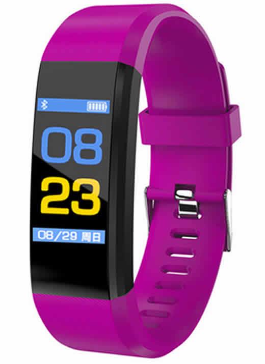 Leecnuo 115 Além de Bluetooth Relógio Inteligente Monitor de Freqüência Cardíaca Relógio Inteligente Rastreador De Fitness Roxo