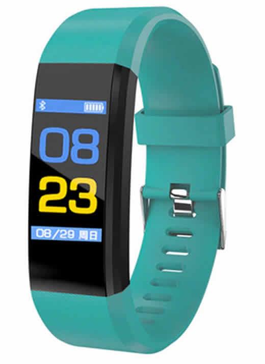 Leecnuo 115 Além de Bluetooth Relógio Inteligente Monitor de Freqüência Cardíaca Relógio Inteligente Rastreador De Fitness Verde