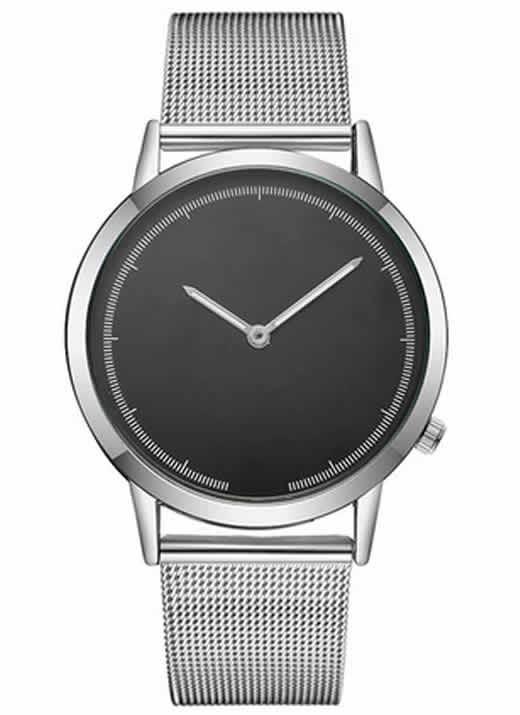 Relógio Masculino de Luxo Azul Prata Preto