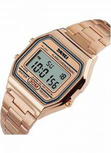 Relógios de Pulso de Aço Inoxidável 30 M À Prova D' Água Relojes Masculino 1123 Bronse