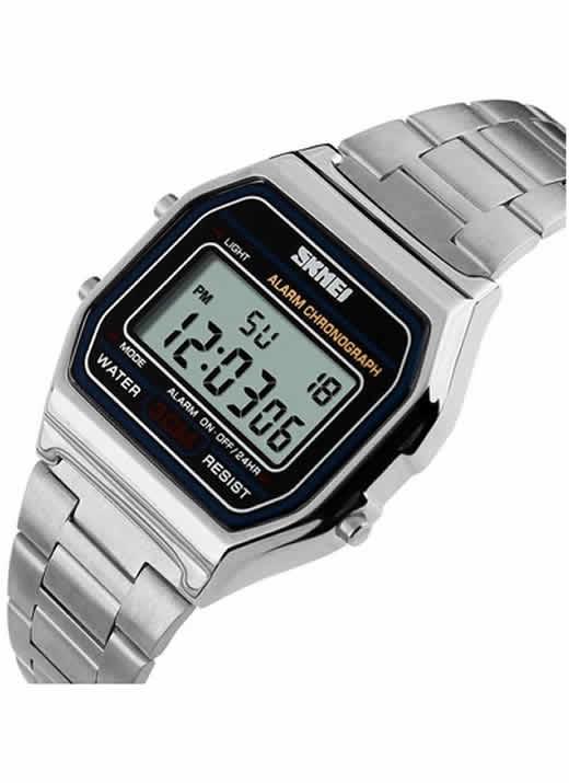 Relógios de Pulso de Aço Inoxidável 30 M À Prova D' Água Relojes Masculino 1123 Prata