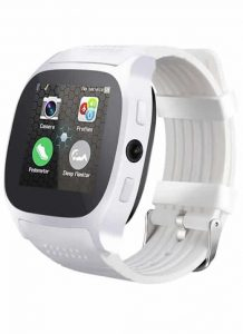 Relogio Celular Smart Watch Lemfo T8 Entrada Chip Bluetooth Branco