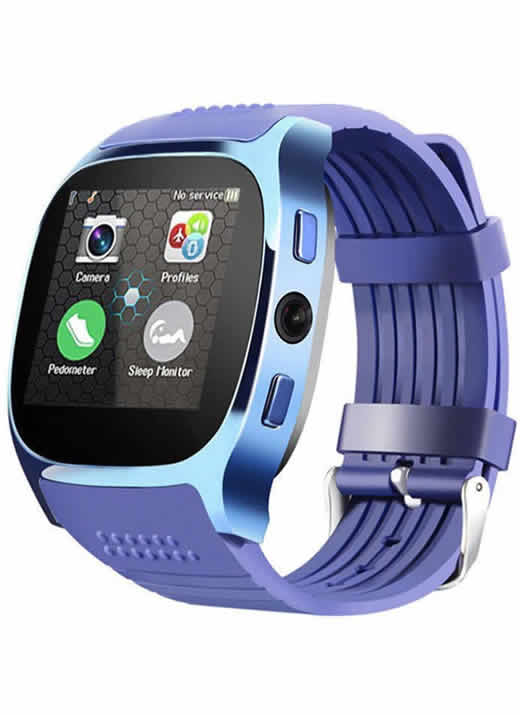 Relogio Celular Smart Watch Lemfo T8 Entrada Chip Bluetooth Azul