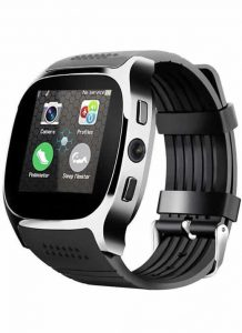 Relogio Celular Smart Watch Lemfo T8 Entrada Chip Bluetooth Preto
