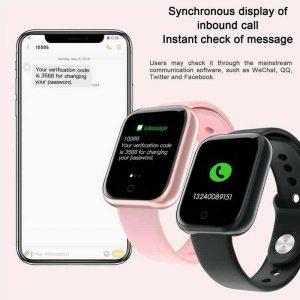 Relógio Eletrônico Smartwatch CF T80 - IP68 - Android e iOS - + 1 Pulseira de Brinde Messenger