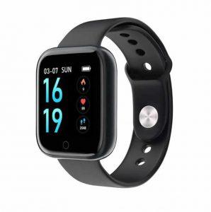 Relógio Eletrônico Smartwatch CF T80 - IP68 - Android e iOS - + 1 Pulseira de Brinde Preto