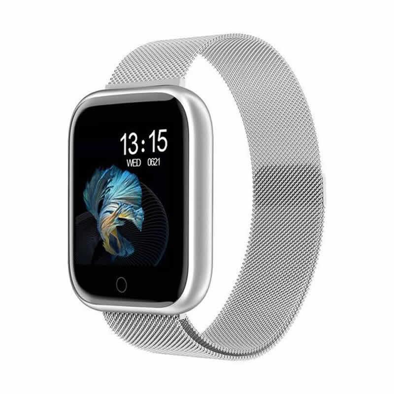 Relógio Eletrônico Smartwatch CF T80 - IP68 - Android e iOS - + 1 Pulseira de Brinde Cinza