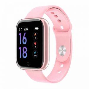 Relógio Eletrônico Smartwatch CF T80 - IP68 - Android e iOS - + 1 Pulseira de Brinde Rosa