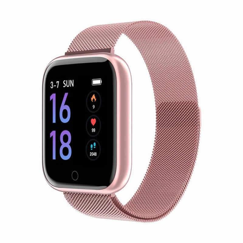 Relógio Eletrônico Smartwatch CF T80 - IP68 - Android e iOS - + 1 Pulseira de Brinde Lilas