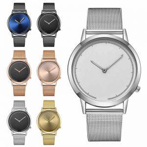 Relógio de Moda Clássico Dos Homens de Negócios de Quartzo de Aço Inoxidável Relógio Do Esporte de Luxo Relógios Masculino