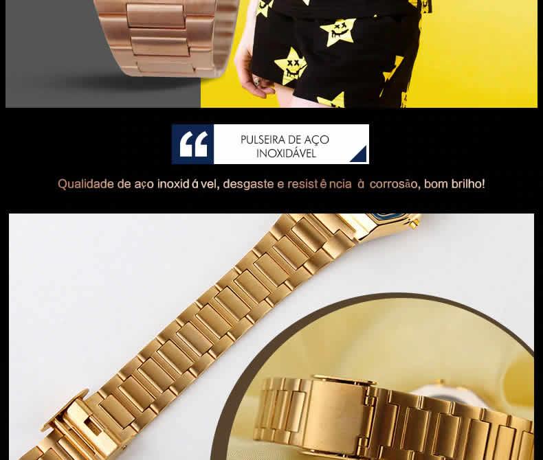 Homens SKMEI Moda Casual Assista LED Digital Homem Homens Relógios de Pulso de Aço Inoxidável 30 M À Prova D' Água Relojes Masculino 1123 Pulseira