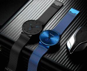 Esportes dos homens Relógios Top Marca de Luxo Ultra Fina Casuais À Prova D' Água Esporte Relógio Quartz Homens de Aço Relogio masculino