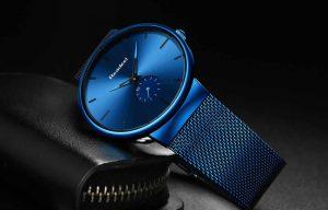 Esportes dos homens Relógios Top Marca de Luxo Ultra Fina Casuais À Prova D' Água Esporte Relógio Quartz Homens de Aço Relogio masculino pulseira