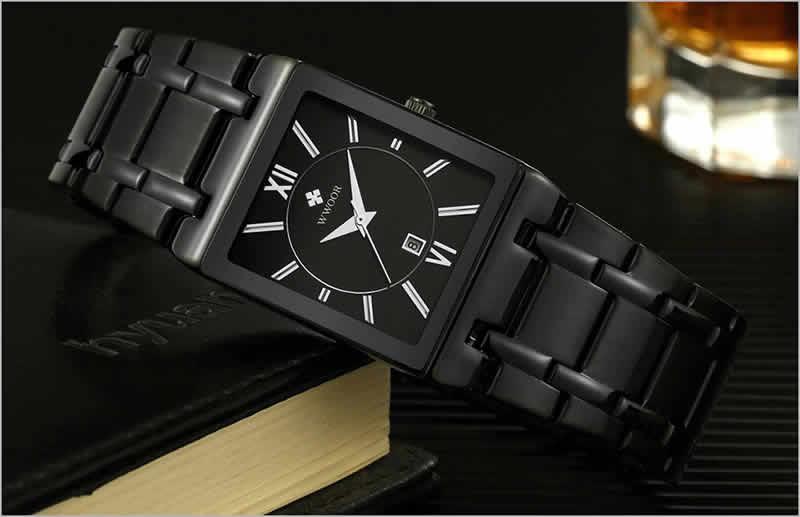 relógio wwoor masculino quadrado