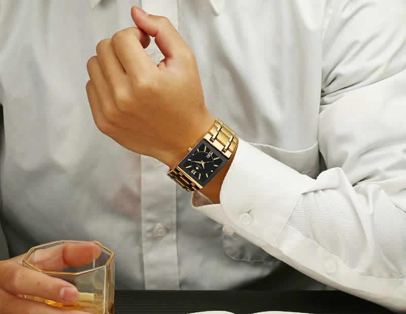 wwoor - relógio masculino ultra fino quartz japonês luxuoso