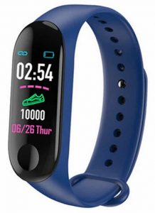 Relógio Medidor Inteligente Pulso Freqüência Cardíaca M3 Azul