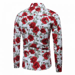 Camisa Floral Havaiana Manga Longa Mjartoria Costas C021-1
