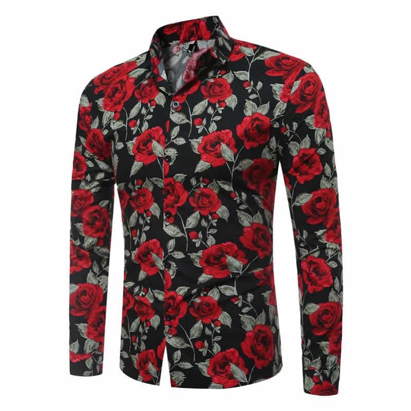 Camisa Floral Havaiana Manga Longa Mjartoria C021