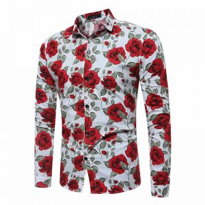 Capa Camisa Floral Havaiana Manga Longa Mjartoria Frente C021-1