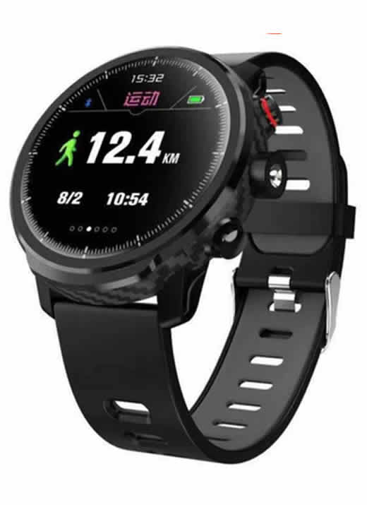 Relógio Eletrônico Smartwatch Magnus Stratos L5 - IP68 Preto