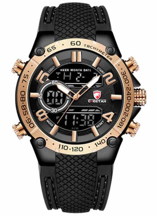 Relógio Cheetah Original de Luxo Dourado