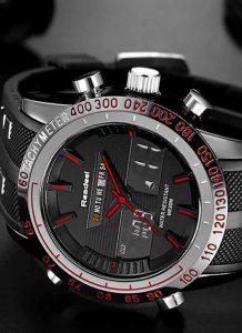 Marca de luxo Relógios Homens Esportes Relógios À Prova D' Água LED Digital Quartz Men Relógio de Pulso Militar Relógio Masculino Relogio masculino