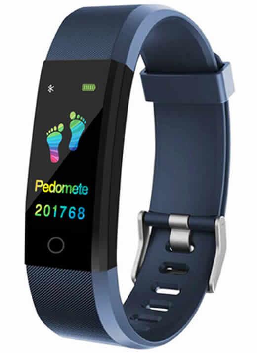 Relógio inteligente Pulseira rastreador de fitness Saúde Pressão Arterial Pulseira para Mulheres Dos Homens À Prova D' Água Azul