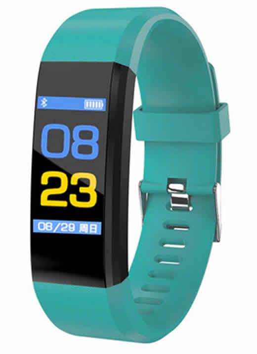 Relógio inteligente Pulseira rastreador de fitness Saúde Pressão Arterial Pulseira para Mulheres Dos Homens À Prova D' Água Verde