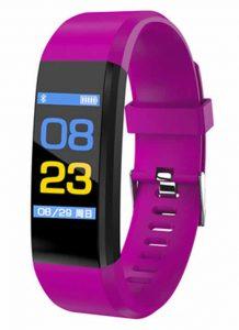 Relógio inteligente Pulseira rastreador de fitness Saúde Pressão Arterial Pulseira para Mulheres Dos Homens À Prova D' Água Roxo