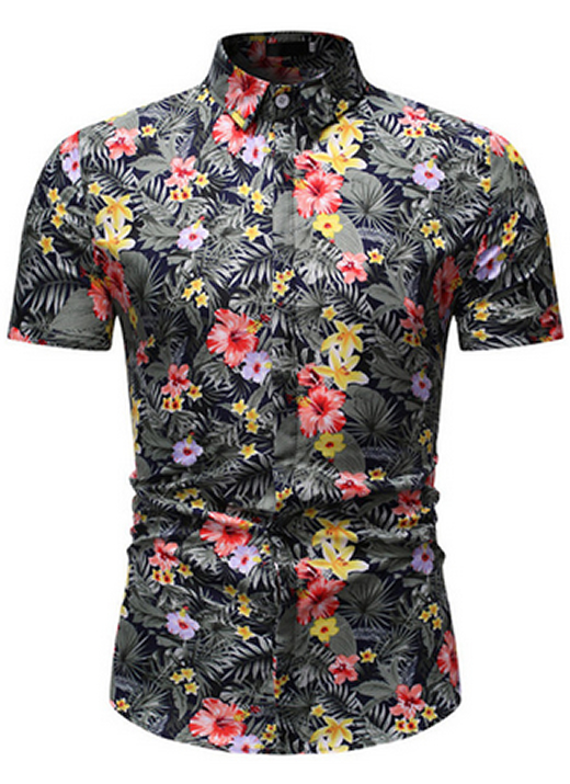 Camisa Florida Havaianas Primavera Verão Cinza C020