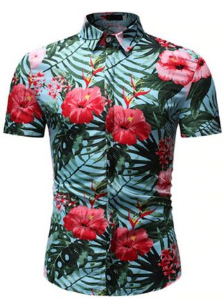 Camisa Florida Havaianas Primavera Verão Verde C020