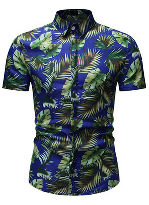 Camisa Florida Havaianas Primavera Verão Azul C020