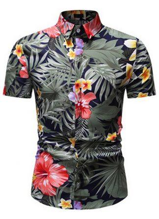 Camisa Florida Havaianas Primavera Verão Verde Claro C020