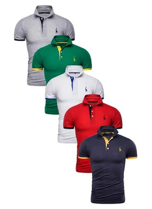 Kit 5 Camisas Polo Masculinas Giraffe GRF CPK04