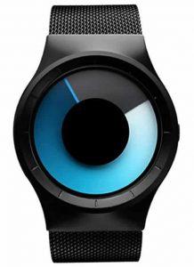 Relógio Futurista Criativo Homens Top Marca de Luxo Casual Relógio Unisex Relógio Banda Malha de aço Inoxidável feminino Masculino