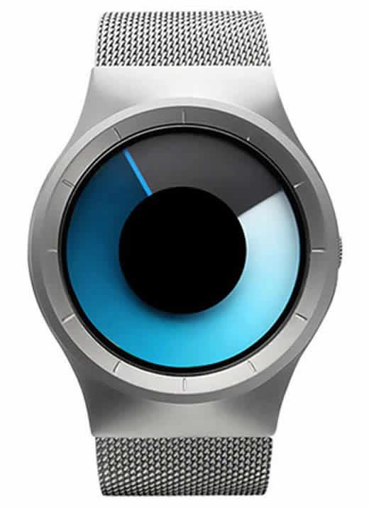 Relógio Futurista Criativo Homens Top Marca de Luxo Casual Relógio Unisex Relógio Banda Malha de aço Inoxidável feminino Masculino 6002 SSU