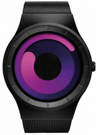 Relógio Futurista Criativo Homens Top Marca de Luxo Casual Relógio Unisex Relógio Banda Malha de aço Inoxidável feminino Masculino 6004 BBR