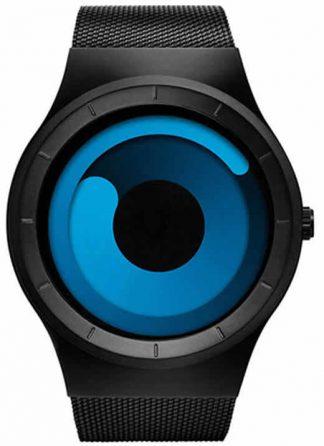 Relógio Futurista Criativo Homens Top Marca de Luxo Casual Relógio Unisex Relógio Banda Malha de aço Inoxidável feminino Masculino 6004 BBU