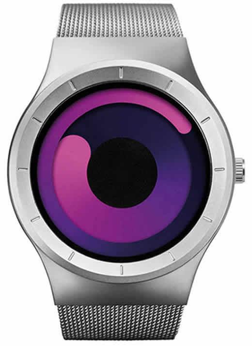 Relógio Futurista Criativo Homens Top Marca de Luxo Casual Relógio Unisex Relógio Banda Malha de aço Inoxidável feminino Masculino 6004 SSR
